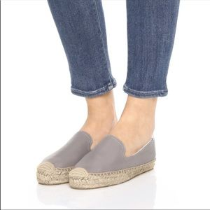 Soludos gray smoking loafer leather espadrille